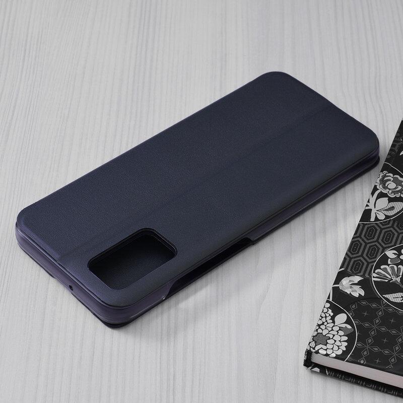 Husa Samsung Galaxy A02s Eco Leather View Flip Tip Carte - Albastru