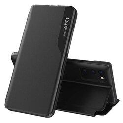 Husa Samsung Galaxy A02s Eco Leather View Flip Tip Carte - Negru