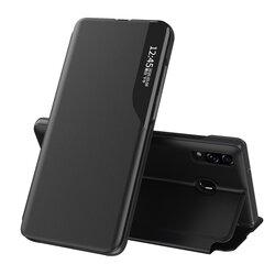 Husa Samsung Galaxy A20e Eco Leather View Flip Tip Carte - Negru