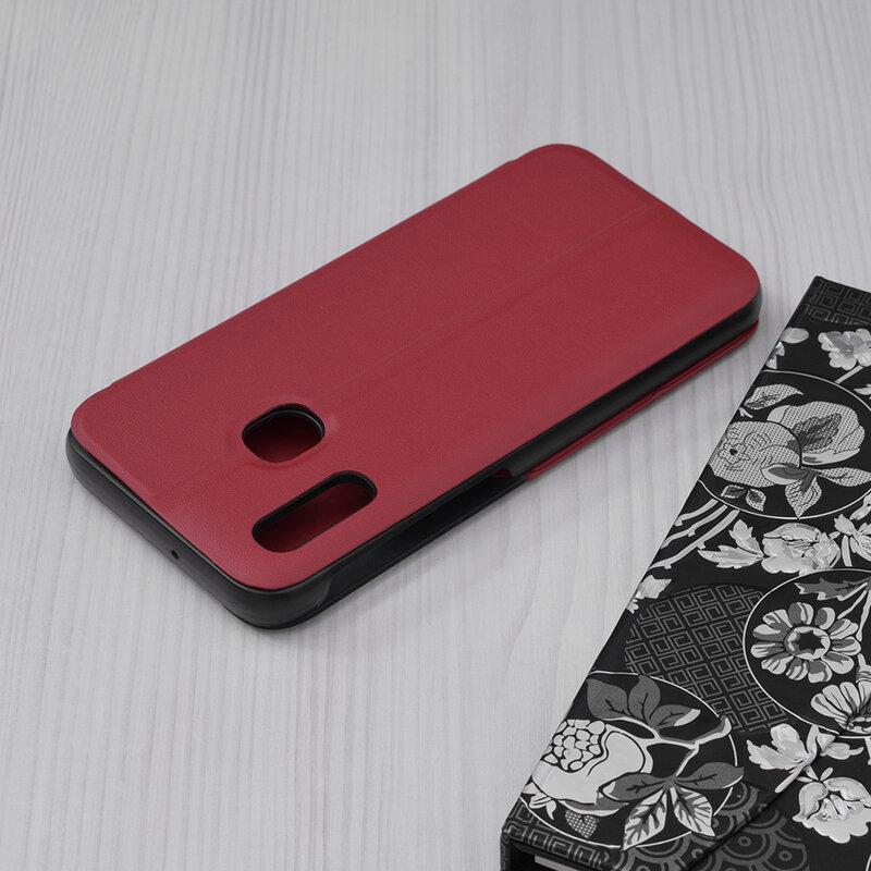 Husa Samsung Galaxy A20e Eco Leather View Flip Tip Carte - Rosu