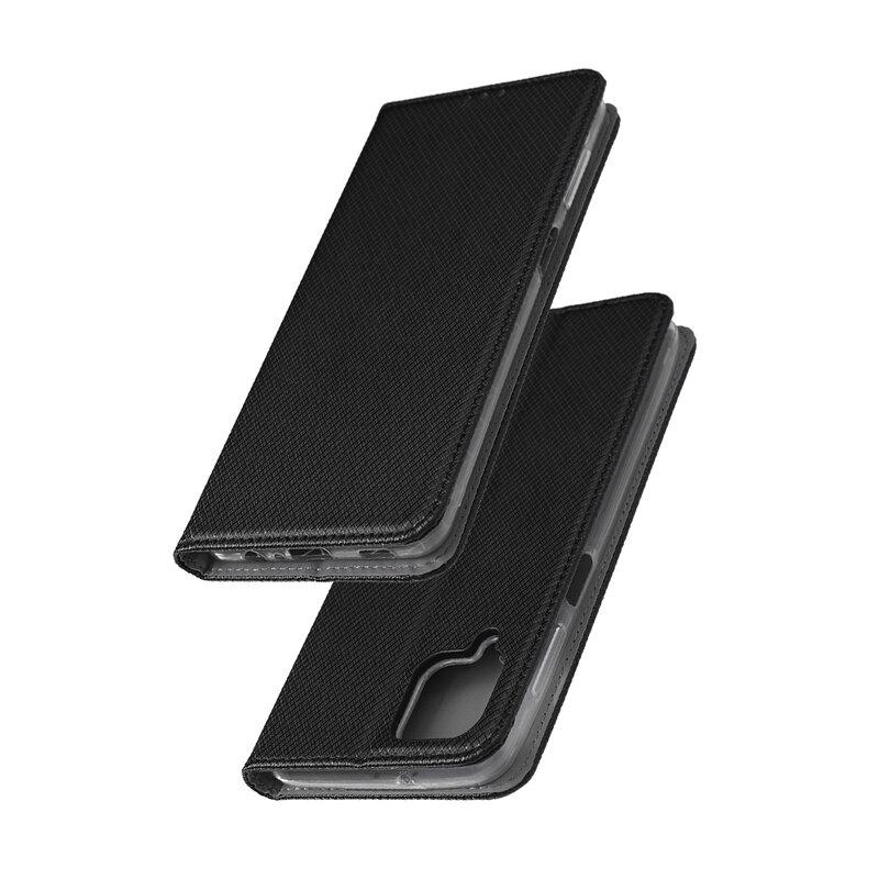 Husa Smart Book Samsung Galaxy A12 Flip, negru