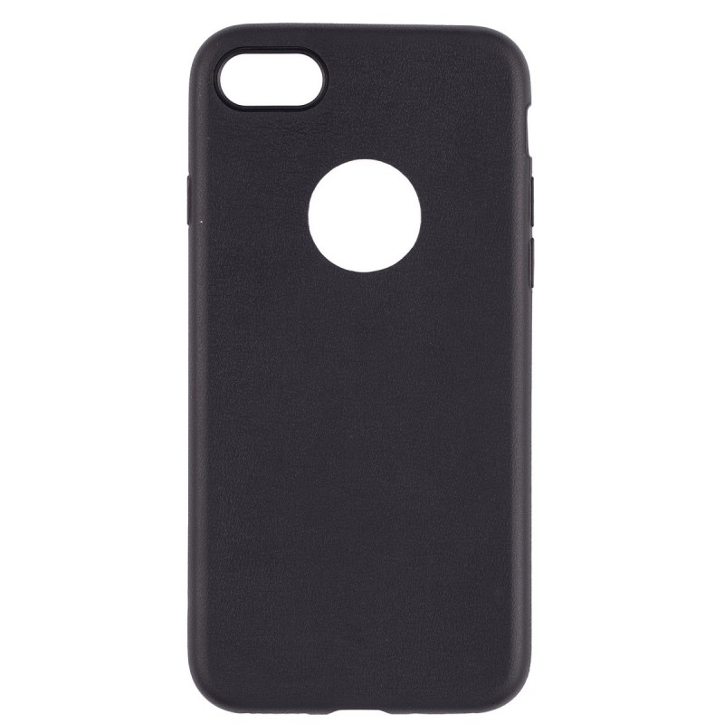 Husa iPhone 7 Plus Jelly Leather - Negru