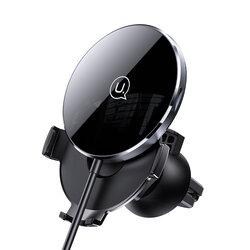 Incarcator wireless auto cu suport magnetic telefon USAMS, negru, US-CD164