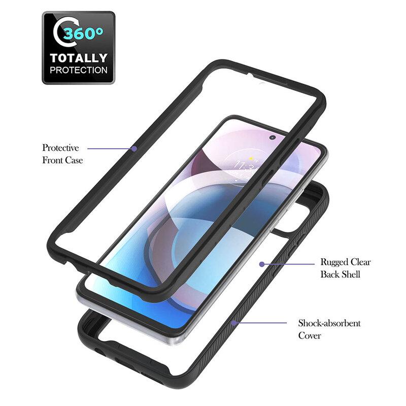 [Pachet 360°] Husa + Folie Motorola Moto G 5G Techsuit Defense, negru