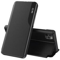 Husa iPhone 12 Pro Max Eco Leather View Flip Tip Carte - Negru
