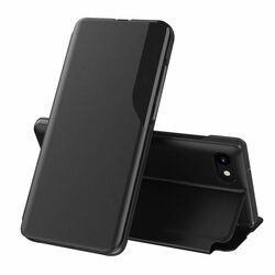 Husa iPhone 7 Eco Leather View Flip Tip Carte - Negru