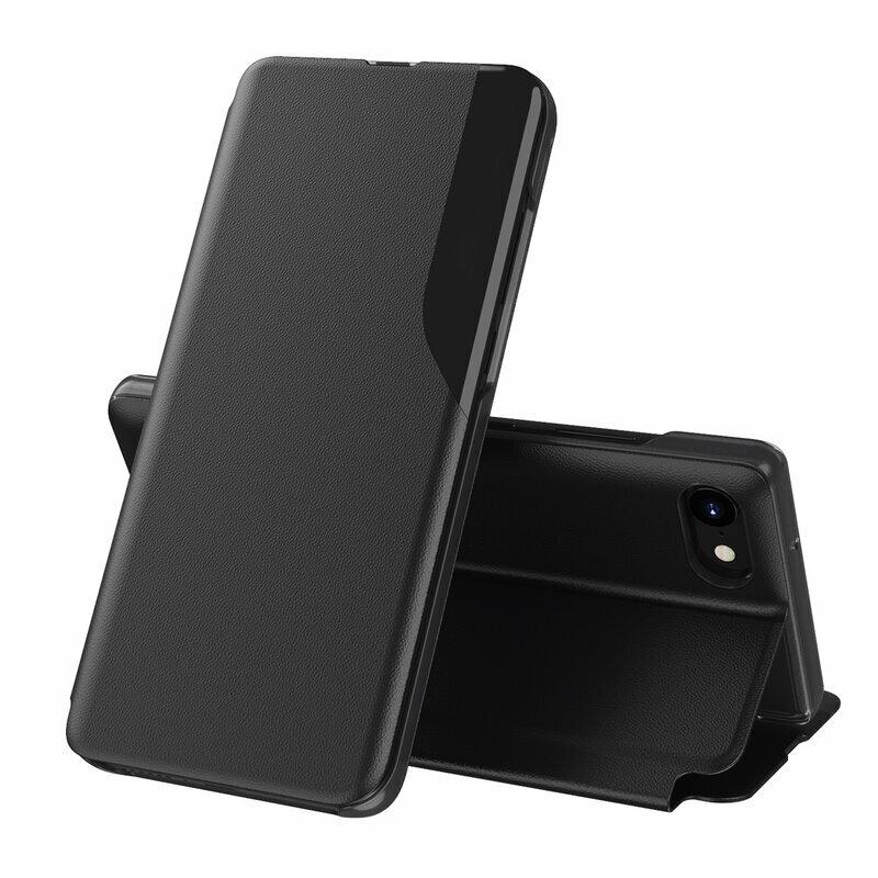 Husa iPhone 8 Eco Leather View Flip Tip Carte - Negru