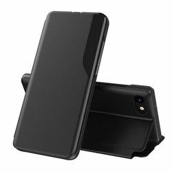 Husa iPhone SE 2, SE 2020 Eco Leather View Flip Tip Carte - Negru