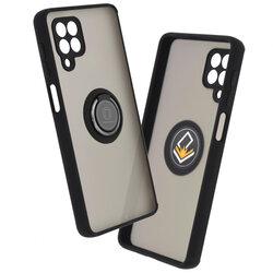Husa Samsung Galaxy M62/ F62 Mobster Glinth Cu Inel Suport Stand Magnetic - Negru