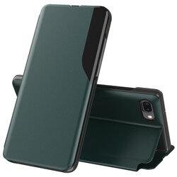 Husa iPhone 7 Plus Eco Leather View Flip Tip Carte - Verde