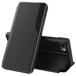 Husa iPhone 7 Plus Eco Leather View Flip Tip Carte - Negru