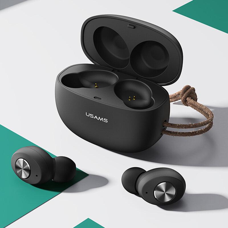 Casti wireless in-ear USAMS, TWS earbuds, Bluetooth, negru, BHUES02