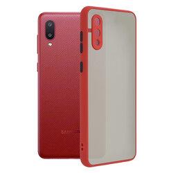 Husa Samsung Galaxy M02 Mobster Chroma Cu Butoane Si Margini Colorate - Rosu