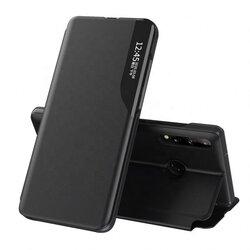 Husa Huawei P30 Lite Eco Leather View Flip Tip Carte - Negru