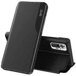 Husa Xiaomi Redmi Note 10 Pro Eco Leather View Flip Tip Carte - Negru