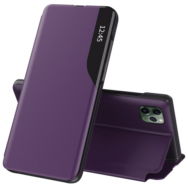 Husa iPhone 11 Pro Max Eco Leather View Flip Tip Carte - Mov