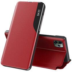 Husa iPhone 11 Pro Max Eco Leather View Flip Tip Carte - Rosu