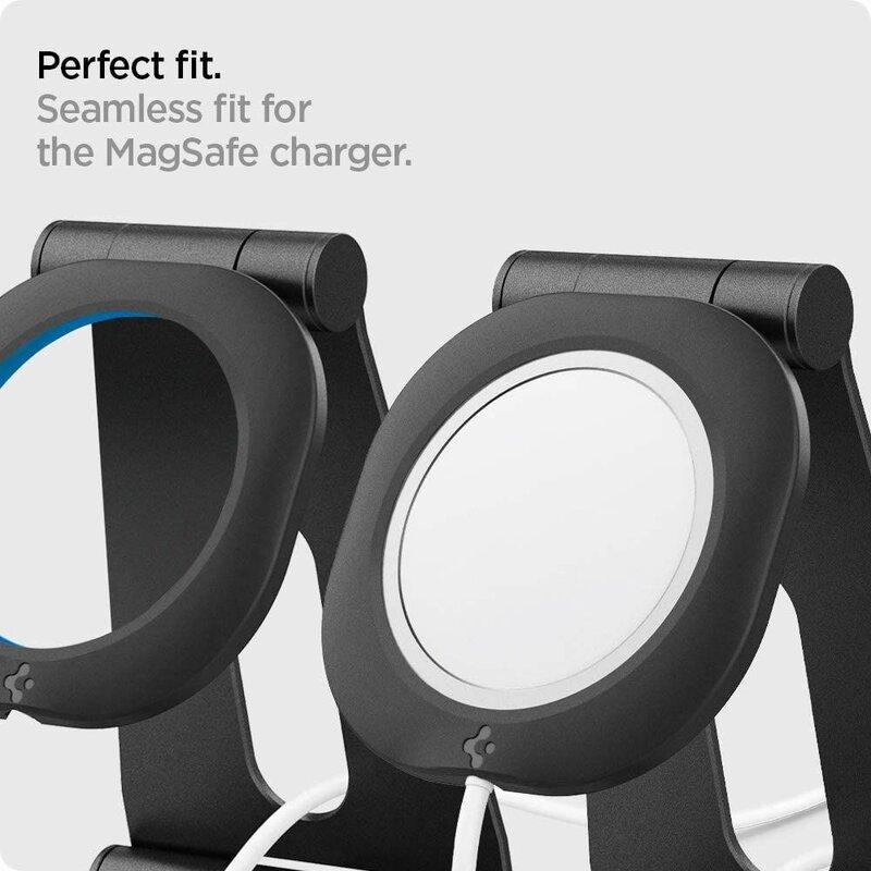 Suport birou incarcator MagSafe iPhone 12 Spigen MagFit S, negru