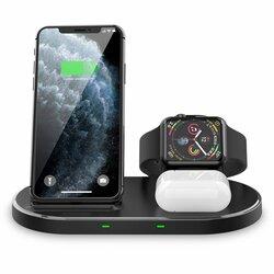 Statie incarcare wireless Apple Tech-Protect W55, 15W, negru
