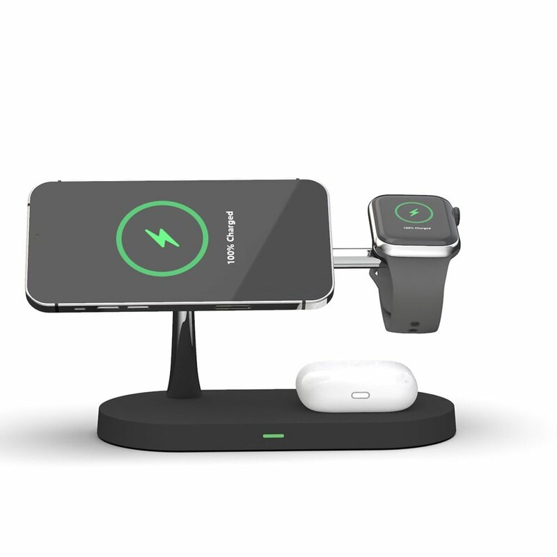 Statie incarcare wireless Apple Tech-Protect A12, MagSafe, negru