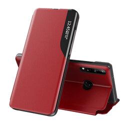 Husa Huawei P30 Lite Eco Leather View Flip Tip Carte - Rosu