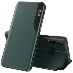 Husa Huawei P30 Lite New Edition Eco Leather View Flip Tip Carte - Verde