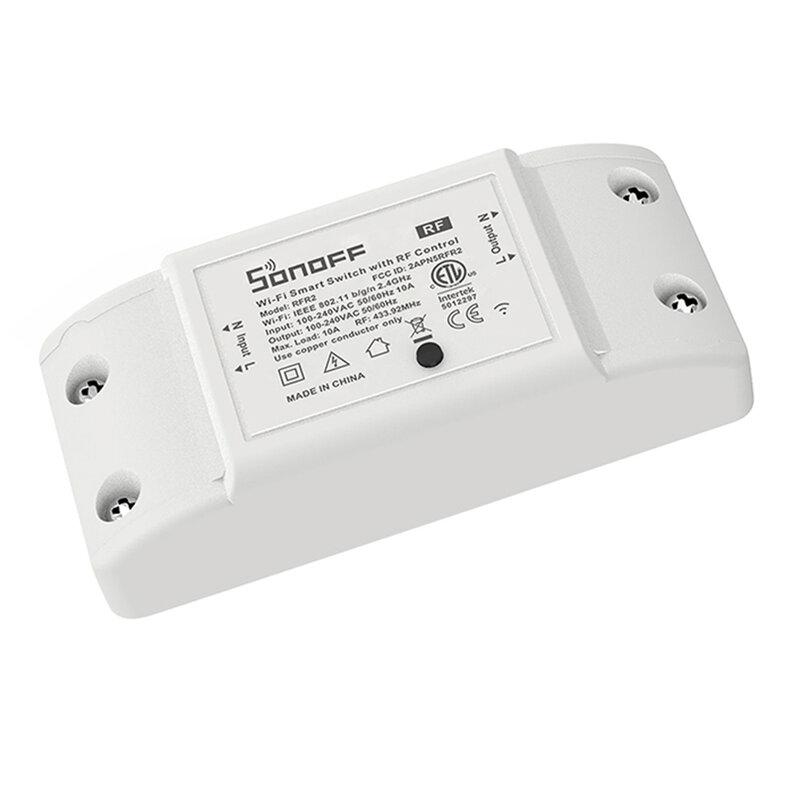 Releu wireless Sonoff RFR2, comutator inteligent, Wi-Fi, RF 433MHz, 10A, alb