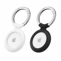 [Pachet 2x] Husa Apple AirTag Loop ESR Cloud tip breloc chei, negru/ alb