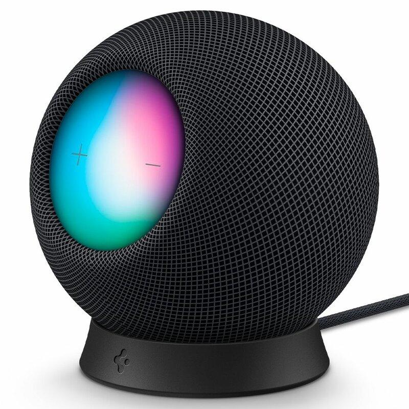 Suport Apple HomePod Mini stand Spigen Silicone Fit, negru