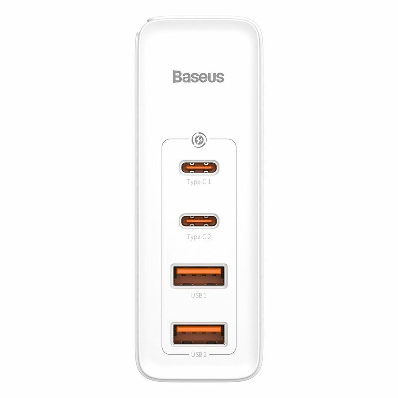 Incarcator priza Baseus 2x USB QC3.0 + 2x Type-C PD100W, alb, CCGAN2P-L02