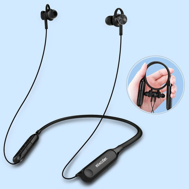 Casti wireless in-ear Mixcder RX, active noise cancelling, negru