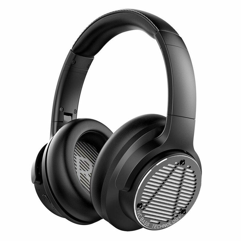 Casti wireless over-ear Ausdom Bass One, active noise cancelling, negru