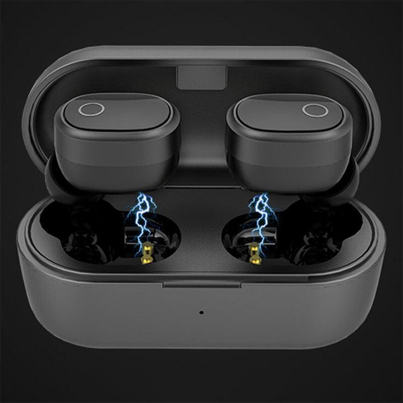 Casti wireless in-ear Ausdom TW01S, active noise cancelling, negru