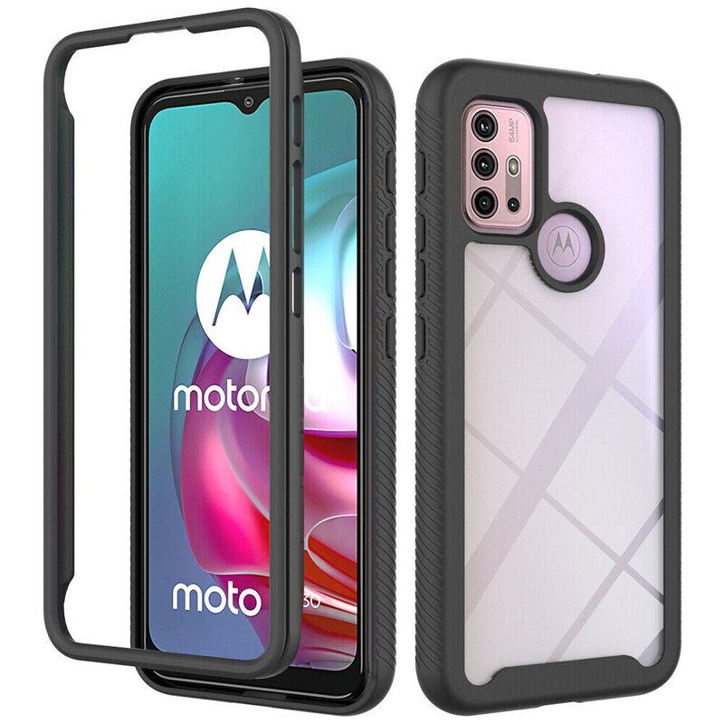 [Pachet 360°] Husa + Folie Motorola Moto G10 Techsuit Defense, negru