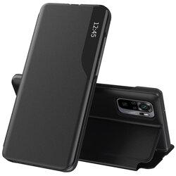 Husa Xiaomi Redmi Note 10 Eco Leather View Flip Tip Carte - Negru