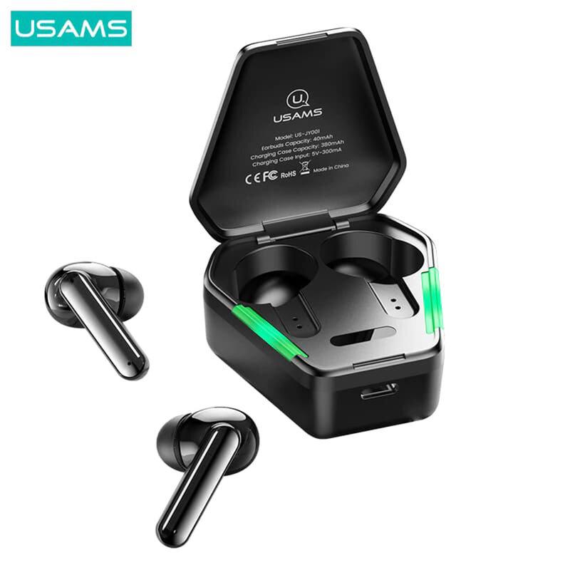 Casti wireless gaming in-ear USAMS JY01, TWS earbuds, Bluetooth, negru
