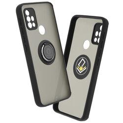 Husa Motorola Moto G30 Mobster Glinth Cu Inel Suport Stand Magnetic - Negru