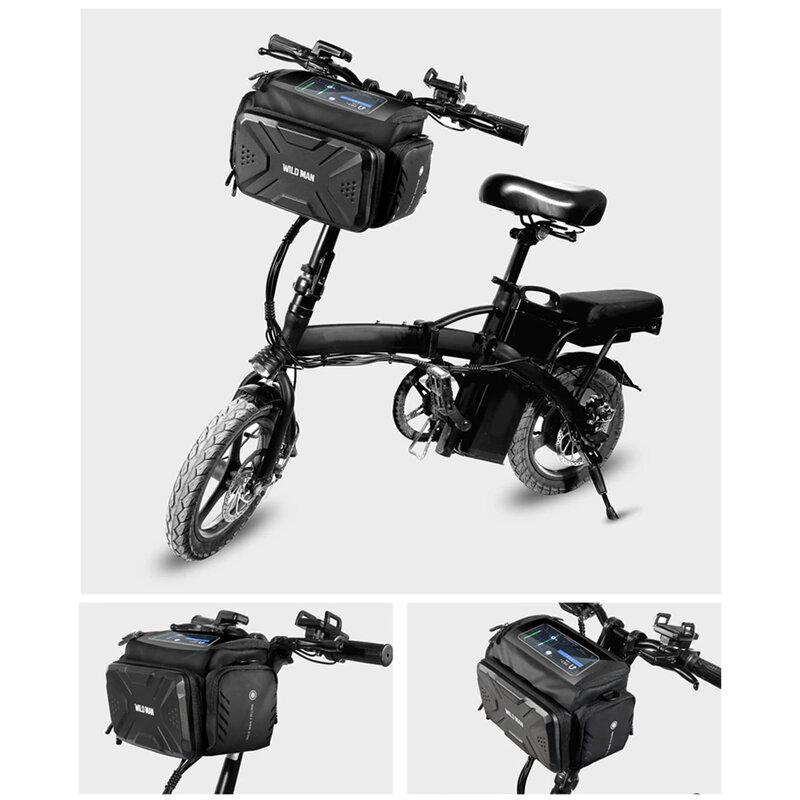 Geanta ghidon bicicleta WildMan Click&Go cu prindere umar, negru