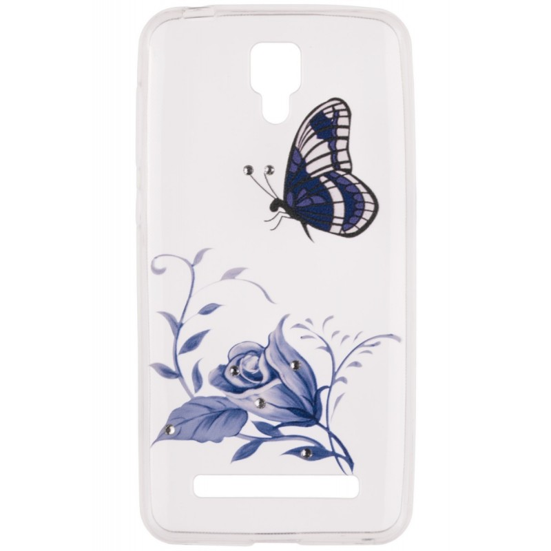 Husa Allview P5 Pro TPU Slim Model Blue Butterfly
