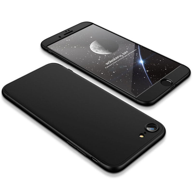 [Pachet 360°] Husa + Folie iPhone SE 2, SE 2020 GKK Original - Negru