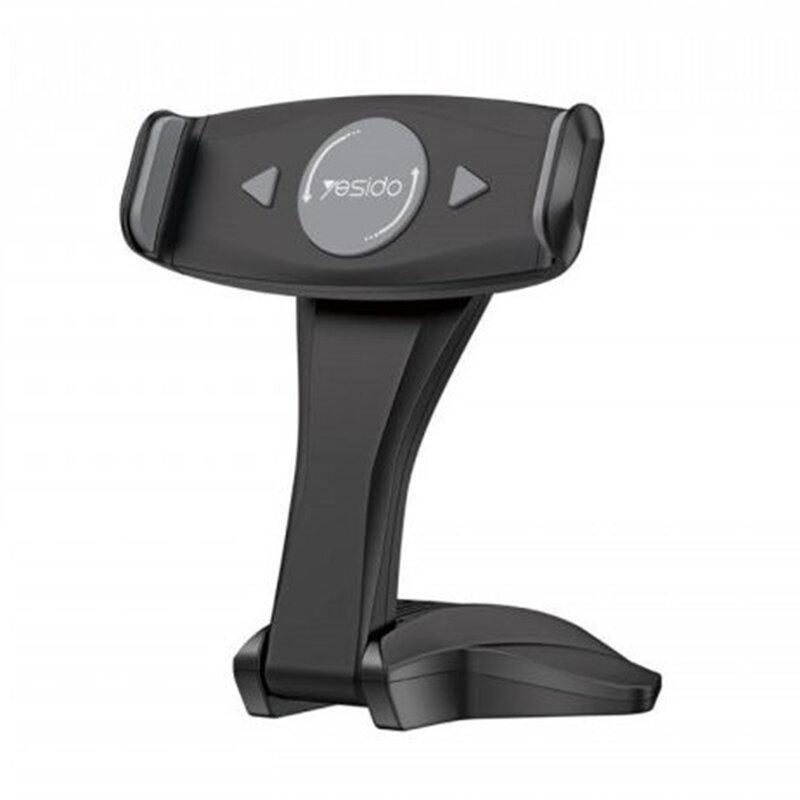 Suport tableta birou Yesido C21, stand telefon universal, negru
