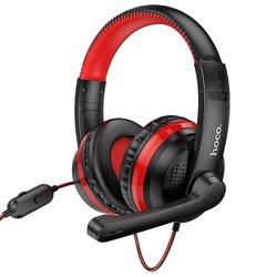 Casti gaming cu microfon on-ear Hoco W103, Jack 3.5mm, rosu