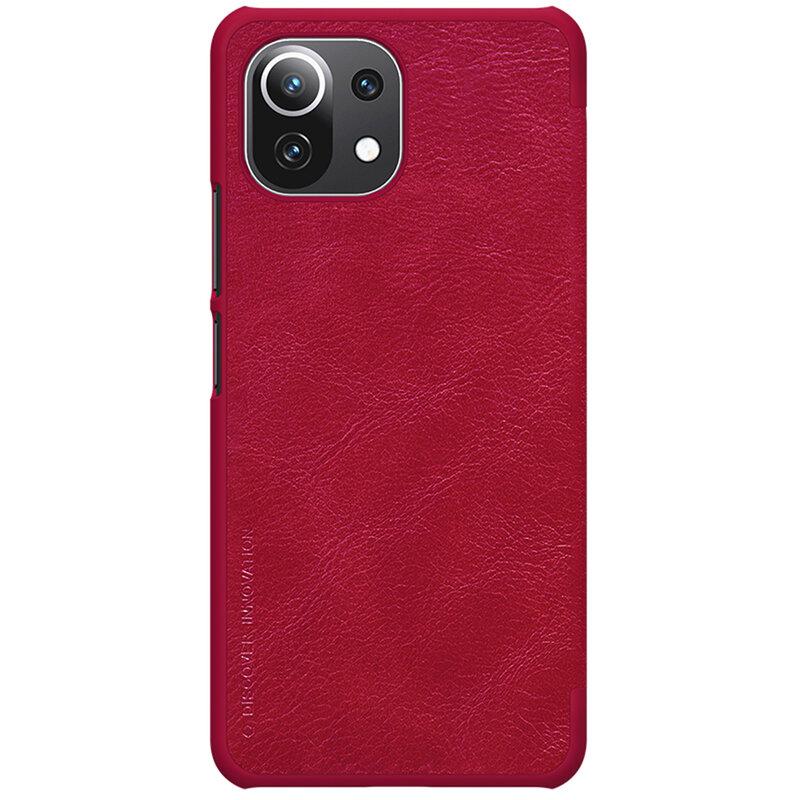Husa Xiaomi Mi 11 Lite Nillkin QIN Leather - Rosu