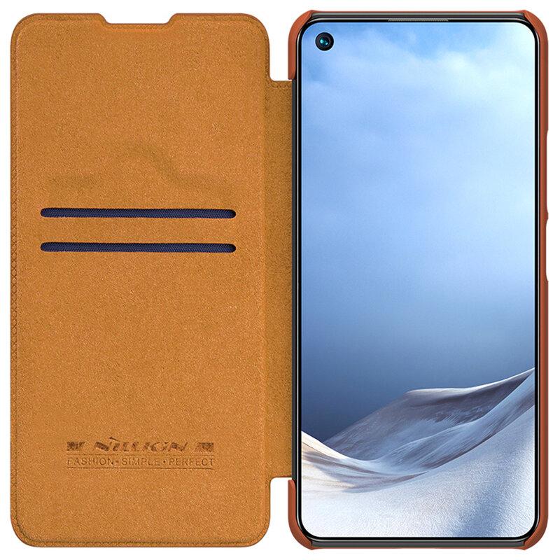 Husa Xiaomi Mi 11 Lite Nillkin QIN Leather - Maro