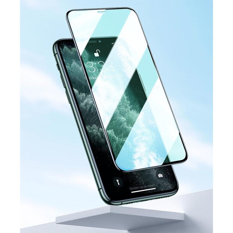 [Pachet 2x] Folie sticla iPhone XS Baseus Eye Protective, negru, SGAPIPH58S-IA01