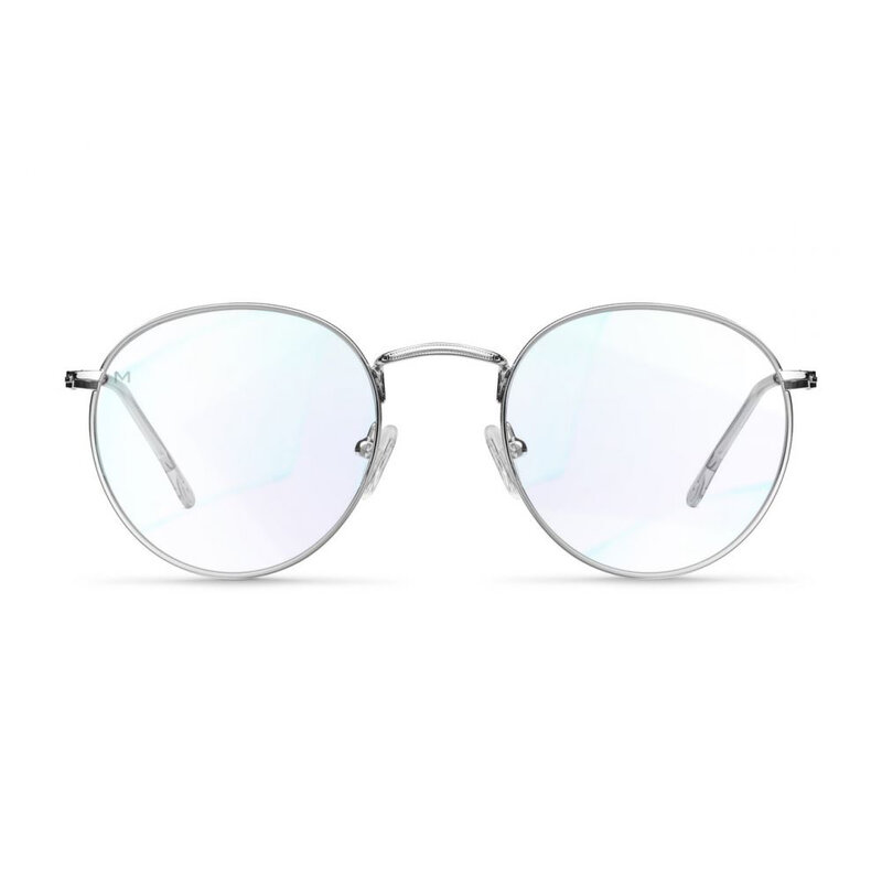 Ochelari de protectie calculator impotriva luminii albastre Meller Yster, argintiu