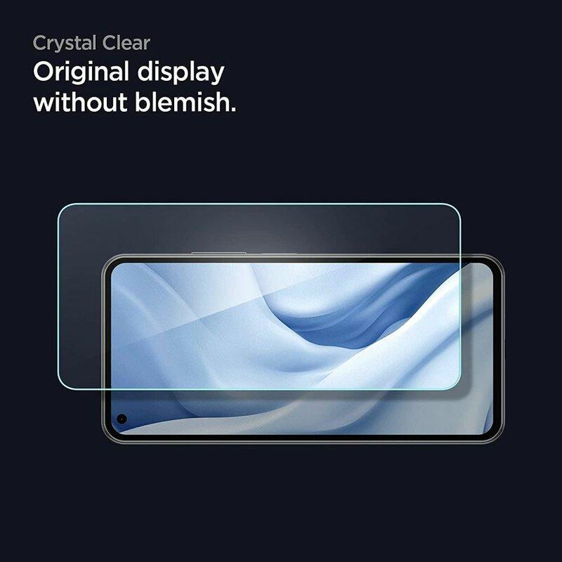 [Pachet 2x] Folie Sticla Xiaomi Mi 11 Lite Spigen Glas.t R Slim 9H - Clear