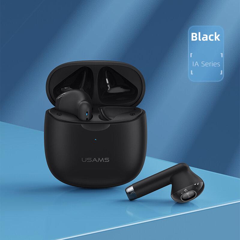 Casti wireless in-ear USAMS, TWS earbuds, Bluetooth, negru, IA04