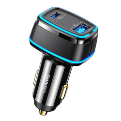 Incarcator auto USAMS Type-C PD100W + USB 20W, negru, US-CC142