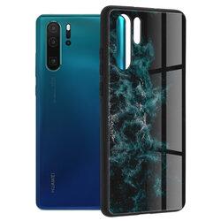 Husa Huawei P30 Pro New Edition Techsuit Glaze, Blue Nebula